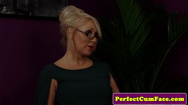 Busty milf, Two, Two cock