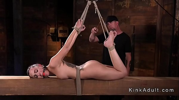 Fist, Hogtied, Fisting anal, Anal toys, Hogtie, Brunette anal