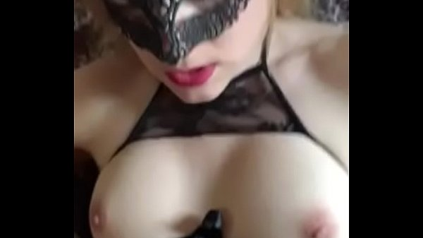 Lingerie, Mask, Loud moaning, Masked wife