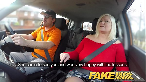 School, Lucky, Instructor, Busty mature, Fake driving school, Fake driving