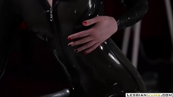Milf, Masturbating, Milf orgasm, Latex strapon, Milf strapon, Strapon latex