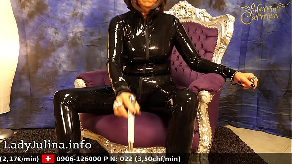 Latex, Catsuit, Latex mistress, Mature mistress, Mature latex