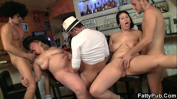Plumper, Fat gangbang, Plumpers, In club