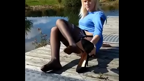 Nylon, Tits, Nylons, Shoeplay, Nylon milf, Milf blonde