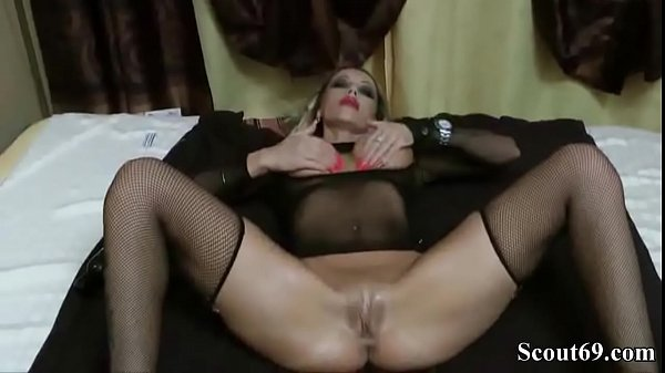 Hot, German, German anal, Milf seduce, German milf, Fishnet