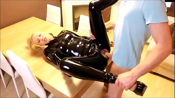 Squirting, Latex, Squirt blonde, Latex fuck, Blonde fuck