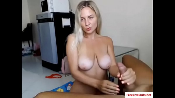 Bj, Hot babe, Blonde handjob